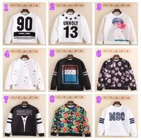 DI-23 Harajuku 2014 Autumn winter Letter 13 Paris Casual men sweatshirt hip hop Sportswear MSC UNHOLY 13 Sport Man hoody