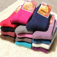 2014 Winter Socks Women Casual Plus Size Cotton Wool Socks Warm Female Socks Ladies Long Thermal Socks