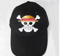 Wholesale cartoon High Quality One piece skull cap one piece hat cap luffy around one baseball cap child's gift ,30pcs/lot