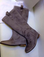 Free Shipping 2014  New Fashion Style Famous Brand Genuine Leather In-heighten Mid-Calf Boots women shoes IS00235