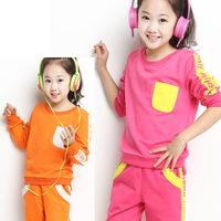 2014 Meninas Vestir Kids Clothes Sets Children Autumn Children's Clothing Wholesale Cotton Suit for Wear A Generation of Fat