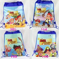 1Piece  Jack Pirate Kids Drawstring school bag,children cartoon printing backpacks bags,mochila kids