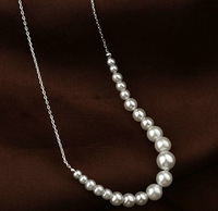 Brand new elegant Simulated pearl chokers pendant necklaces fashion women costume jewelery