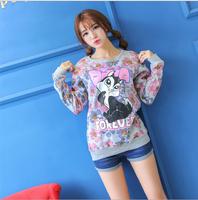 2014 New Autumn and winter new style  women cotton hoodies DIVA  fleece warm women's sweatshirts 3 color A821