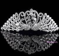 Bridal tiara crown wedding yarn Peacock Love Child show female wedding