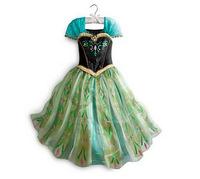 2014 hot girls dress party dress green Frozen Romance new summer ANNA cosplay Costume princess dress child dress free shipping