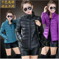 Feminino Parka 2014 Winter Jacket Women Slim Office Ladies Zippers Plus Size Coats Jaquetas Free Shipping 10 Color