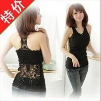 Off the Korean version of hollow out Lace Crochet vest primer vest