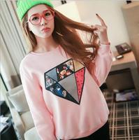 2014  New Autumn and winter new style  women cotton hoodies Diamond printing  fleece warm women's sweatshirts 5color 820C