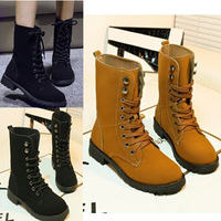 Free Shipping 2014 fashion motorcycle martin ankle boots for women plus size 35-42 autumn winter leather short boots shoes women