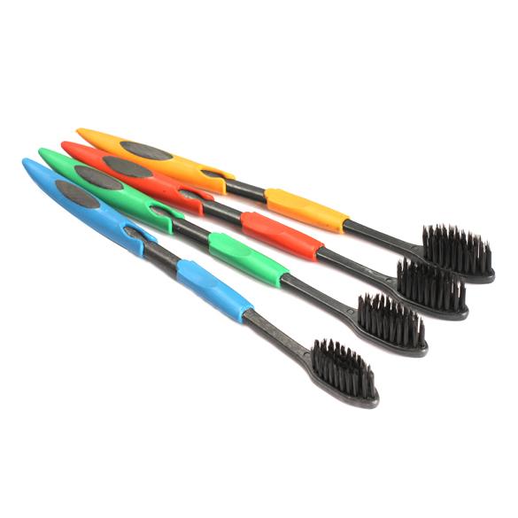 Самый дешевый! 4 шт. бамбуковый уголь нано зубную щетку двойной ультра мягкая зубная щетка для ухода за полостью рта ...