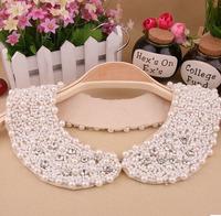 2014 new fashion women fake collar pearl necklace doll round neck luxury