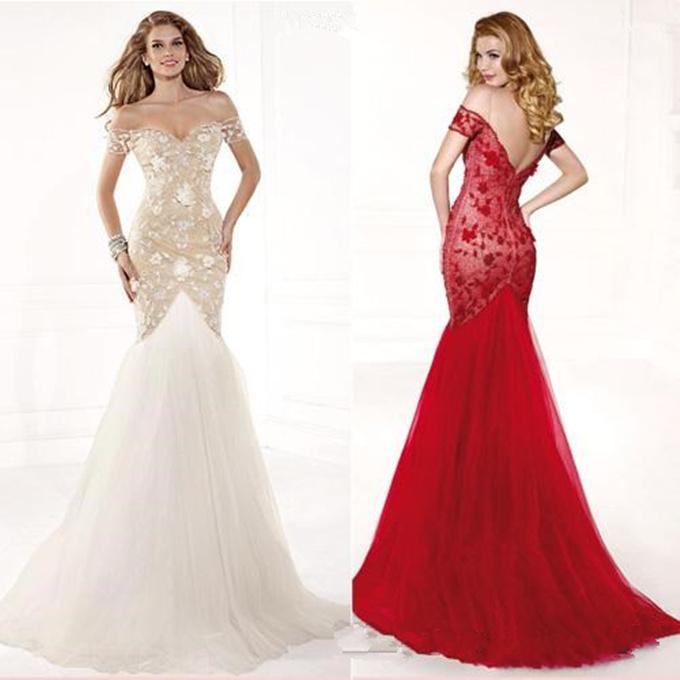 Cheap red elegant evening dresses - Best Dressed
