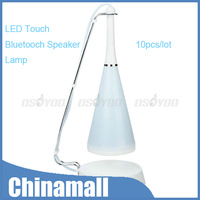 New Multi-function Touch Sensor LED Table Lamp With Bluetooth Speaker Free Express 10pcs/lot