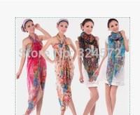 180*110Nice Print Scarves Hot Cachecois Sobretudo Feminino Floral Printed Apparel Accessories Muslim Hijab super Long Scarf