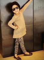 2014 Spring Autumn Winter New Fashion Children's 2-7 Year Cotton Warm Pant Girls Kids Leopard Trousers Leggings B16 SV008351