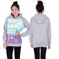 New Women Winter Hoodies Coat Warm Long Sleeve Printed Sweatshirt Schoolgirl Hoodie Outerwear Plus Size