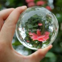 001230 80mm Stand Asian Rare Natural Quartz Clear Magic Crystal Healing Ball Sphere