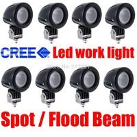 8 x 10W CREE LED Work Lamp Spot Flood Car Offroad Fog 4x4 Motor Truck ATV Boat Headlights