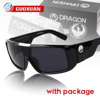 2014 New Fashion Dragon Sunglasses Men ORBIT Rectangle outdoors Coating Sunglass Women Eye Glasses Oculos Feminino with Box