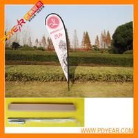 3m Teardrop flagpole + single flag+spike base -Uk,De,Fr,Be,Se,DK,Netherlands,Switzerland,Italy