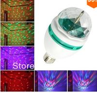Christmas led bulb 3W E27 Full Color RGB LED Crystal Rotating DJ Stage disco,novelty Bulb,Magic Party LED 85-260V CE