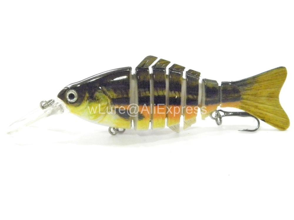 Fishing Lure 7 Segment Swimbait Crankbait Hard Bait Slow Floating Jerkbait Fishing Tackle HS7X515(China (Mainland))