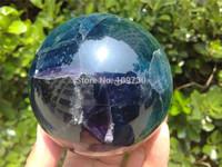 001248 NATURAL Green Fluorite quartz crystal sphere ball healing