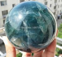 001249 NATURAL Green+Blue Fluorite quartz crystal sphere ball healing