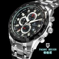 Luxury Brand Pagani Design Military Watch Movement Chronograph quartz watch 3ATM Dive Waterproof