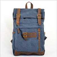 The new priest stone 2014 backpack, restore ancient ways men and women crazy horse leather canvas bag bag