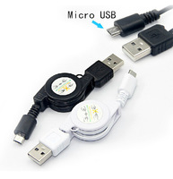 Retractable Micro USB Cable charger 2.0 Data sync Charger cable For Samsung galaxy and android phone from ivopor