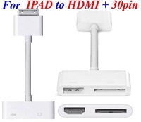 100pcs/lot*Digital AV Adapter 30Pin Dock Connector to HDMI Adapter Video Audio Charging For iPad 2 3 iPhone 4 4S iPod