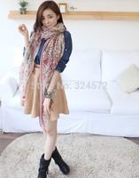 170*90New European Style woman fashion brand autumn winter tiger elephant print long scarves Fashion popular Design lady cotton