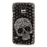 Luxury 3D Rivets Studs Skull Bling Diamond Case Cover For Samsung Galaxy S5 I9600
