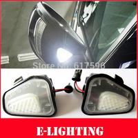 For Vw Volkswagen CC 12-14 EOS Passat 2x LED Side Under Mirror Puddle Light Lamp