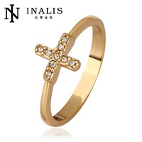 R567 Wholesale High QualityNickle Free Antiallergic New Fashion Jewelry 18K Real Gold Plated Ring For Women Free Shipping