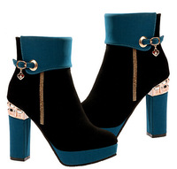 New ! European and American women High-heeled boots martin boots princess thick heel boots