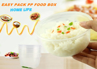 Pack of 20 Plastic Transparent Deli Food Container 500ml Food box with Lids