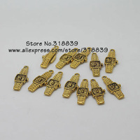 Wholesale (80 pieces/lot) 9*33mm Antique Gold Metal Alloy Small Watch Charm Jewelry Watch Pendant 7625