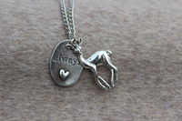 Always, Deer, Heart Necklace,Harry potter Necklace,Harry Potter Jewelry