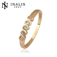 R565 Wholesale High QualityNickle Free Antiallergic New Fashion Jewelry 18K Real Gold Plated Ring For Women Free Shipping