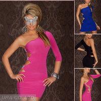 Classic Black/ Blue WomenEvening Dreees Sexy  Lady Nighclub Dress Plus Sizes  Free Size Grown Dresses Free Shipping US5028