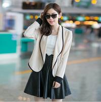 2014 Women's Open Stitch Coat Loose casual Long Sleeve Autumn Cardigan Coat Outwear 4 Colors