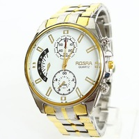 Free Shipping For Men Fashion Luxury Elegant Brand Gold Rose Stainless steel Stainless steel Watches