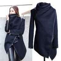 Hot 2014 winter woolen overcoat women fashion Windbreaker jacket Free Shipping WL2043