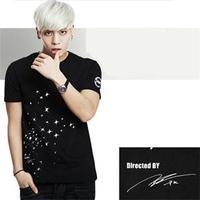 2014 New Fashion SHINEE SAME TYPE KPOP Slim short-sleeved JONGHYUN JONG HYUN SHW men's T-shirt Tees