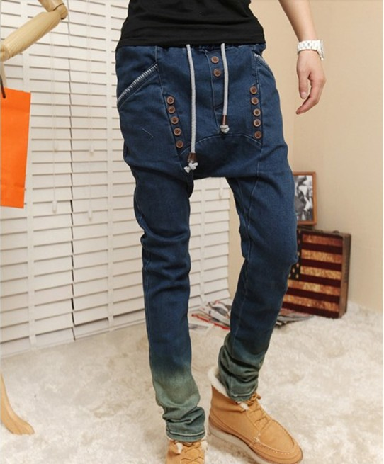 Wholesale-top Sale Fashion Korean Skinny Jeans for Men Brand Pants