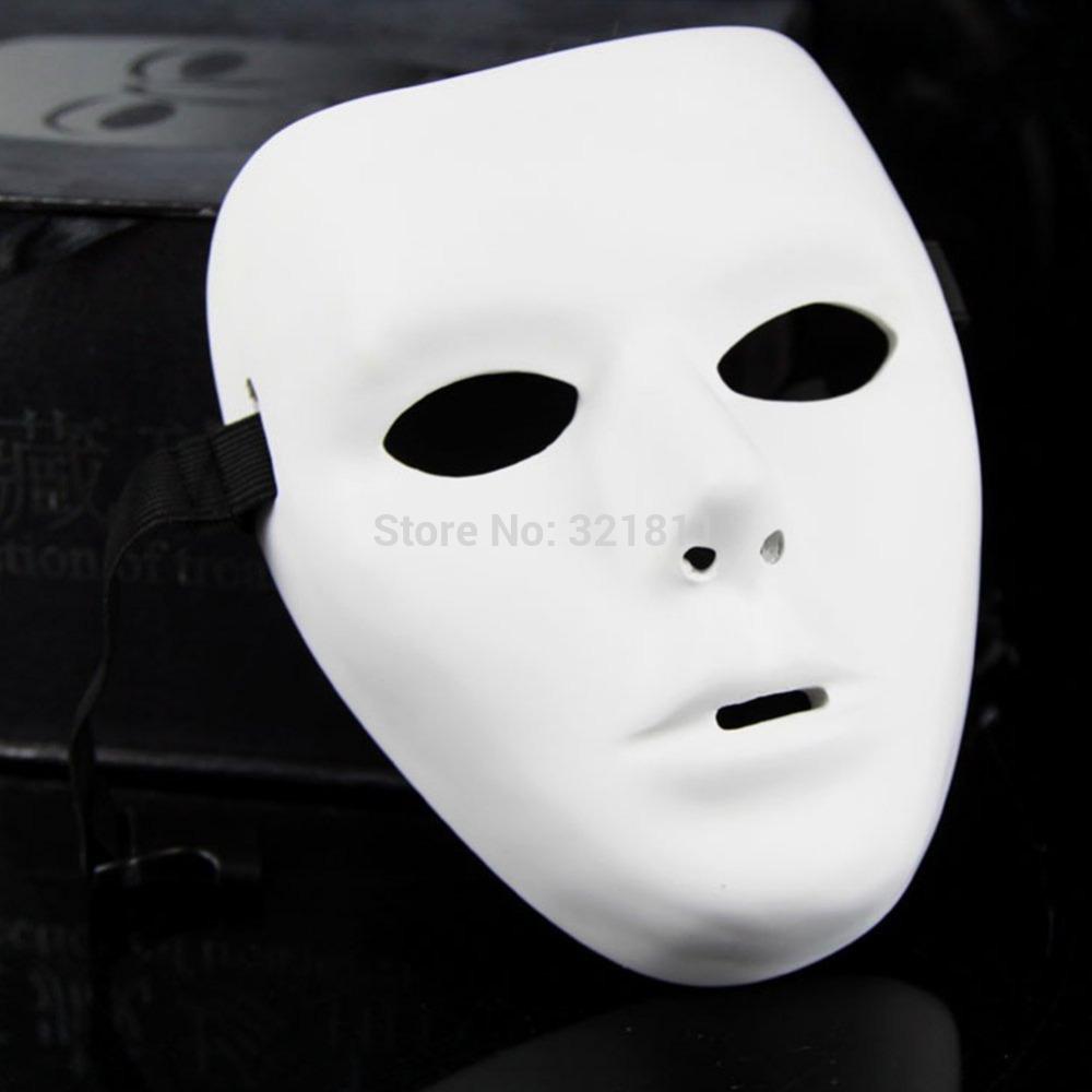 christmas Halloween Party Mask Masquerade Men Hip Hop Dance Costume White Color Resin Jabbawockeez Mask(China (Mainland))
