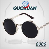 New 2014 Cazal Vintage Round Sunglasses Women Men STEAMPUNK Gafas Oculos Retro Coating Sun Glasses Shades Oculos De Sol Feminino
